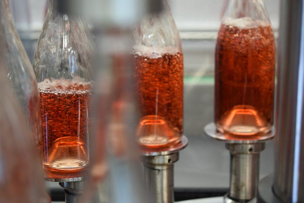 bottling rose wine