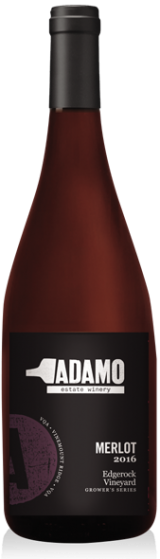 2016 edgerock merlot wine at Adamo Estate Winery