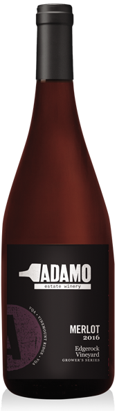 2016 edgerock merlot wine at Adamo Estate Winery