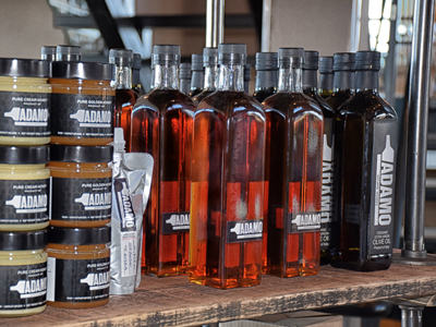 honey and olive oil from Adamo Estate Winery