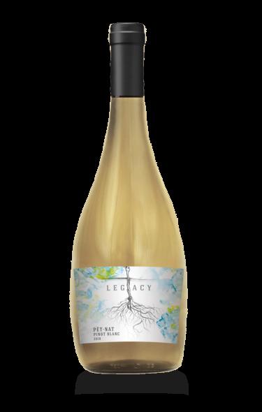 2019 Pet Nat Pinot Blanc wine at Adamo Estate Winery