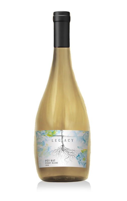 2019 Pet Nat Pinot Blanc wine at Adamo Estate Winery