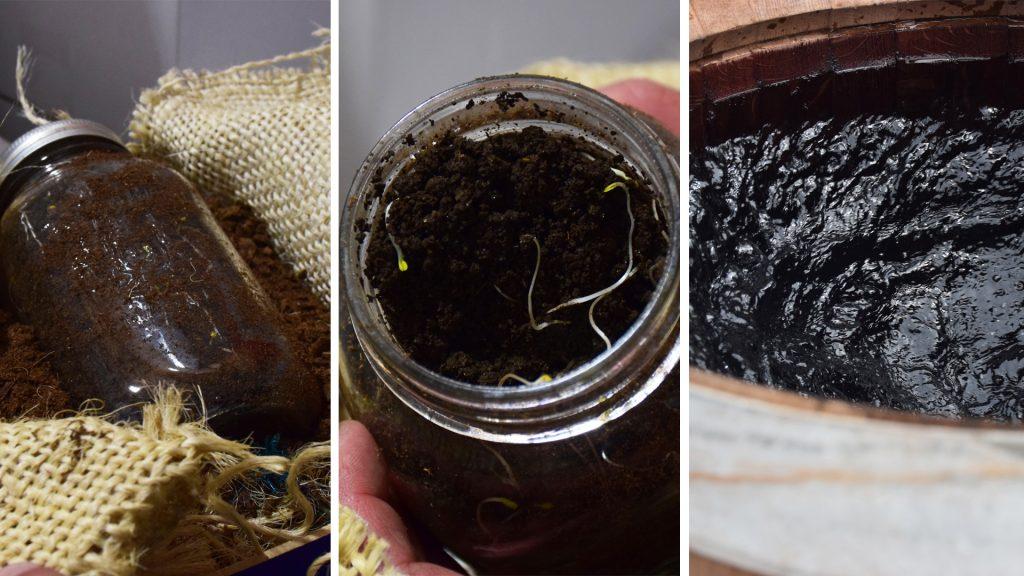 jar with mud inside
