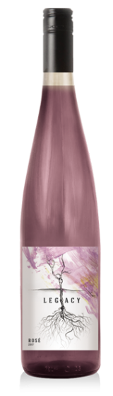 legacy rose wine at Adamo Estate Winery