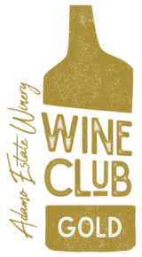 Adamo Estate Winery gold Wine Club membership logo