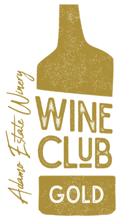 Adamo Estate Winery gold Wine Club membership logo