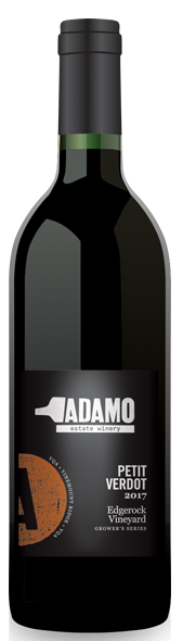 2017 Petit Verdot wine at Adamo Estate Winery