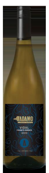 2019 Estate Vidal wine at Adamo Estate Winery