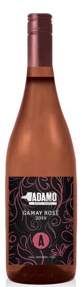 2019 gamay rose wine at Adamo Estate Winery