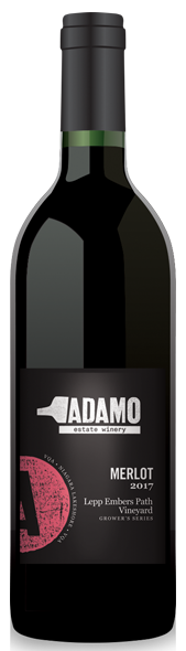 2017 lepp embers merlot wine at Adamo Estate Winery