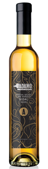 2018 late harvest special dessert wine at Adamo Estate Winery