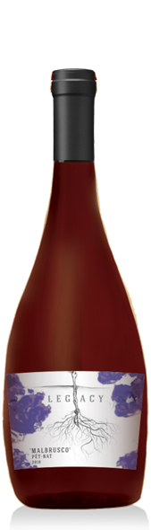 Malbrusco Pet Nat wine at Adamo Estate Winery