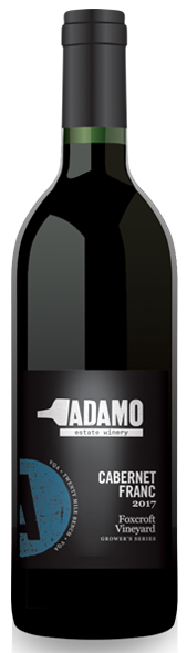 2017 Foxcroft Cabernet Franc wine at Adamo Estate Winery