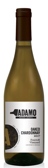 2017 Foxcroft Oaked Chardonnay wine at Adamo Estate Winery