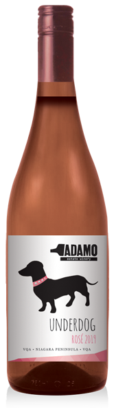 2019 Underdog Rose wine at Adamo Estate Winery