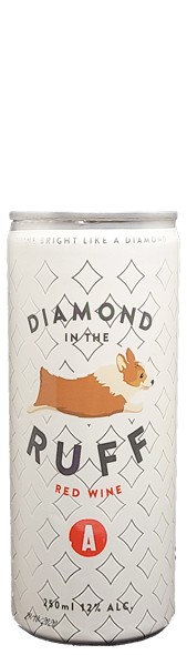 Diamond in the Ruff wine can at Adamo Estate Winery