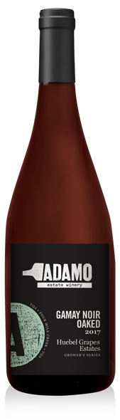 2017 Hubel Gamay Noir Oaked wine bottle